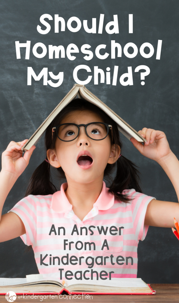 Are you thinking about homeschooling for kindergarten? Learn if homeschooling kindergarten is a good fit for your family. #homeschool #homeschooladvice #whyhomeschool #teachingchildren