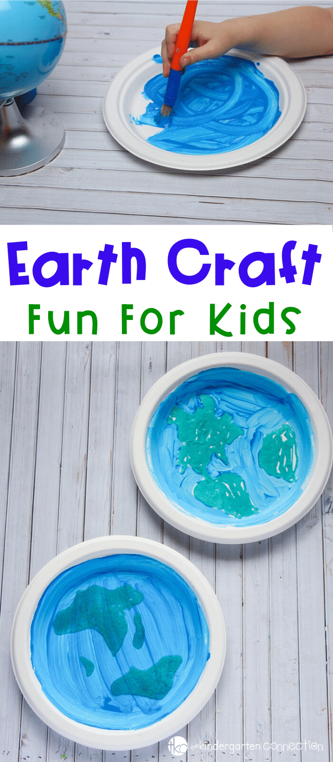 This paper plate craft is a fun, hands on way to celebrate Earth Day! Simple to make, and great to tie into your Earth Day activities for kids! #earthday #earthdayactivities #craftsforkids #earthcraft