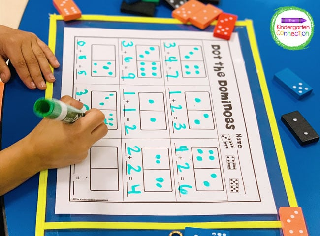 Laminate the printable or slip it into a dry erase pocket sleeve for repeated use in your math centers.