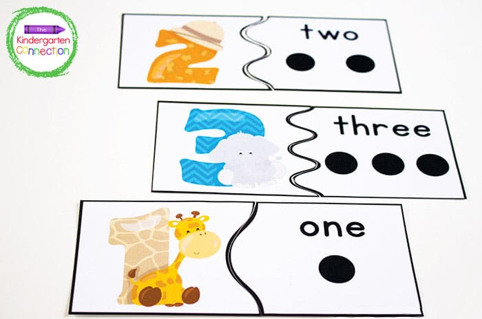 To begin, we start by focusing on the counting puzzles for numbers 1, 2, and 3.