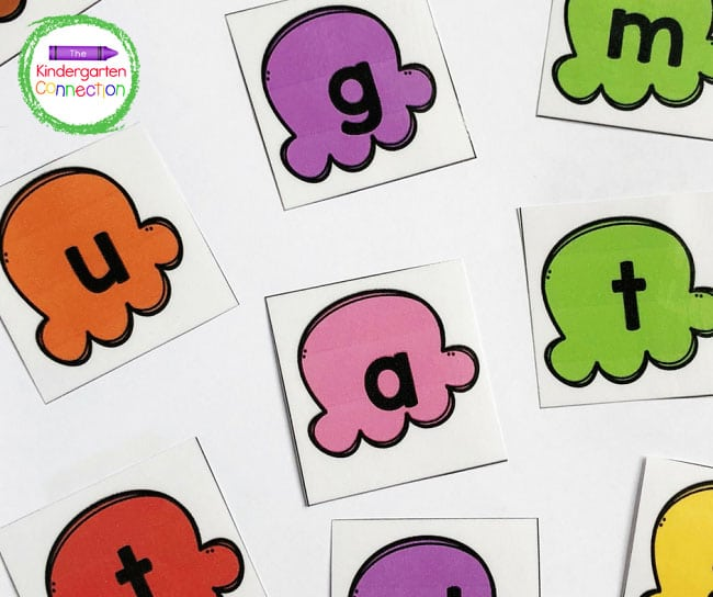 Print and laminate the ice cream letter cards for repeated use and durability.