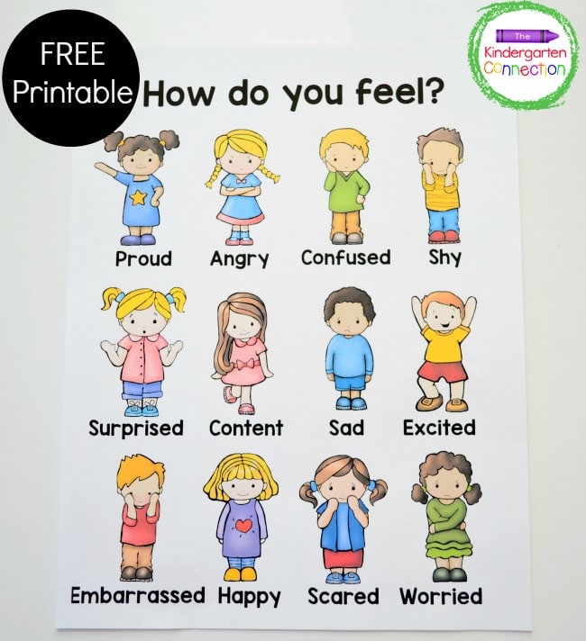 An emotions chart is a place for children to see what emotions are and differences among them.