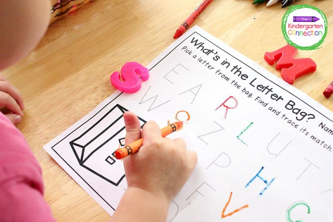 Children can also use the letter tracing printable to practice handwriting skills.