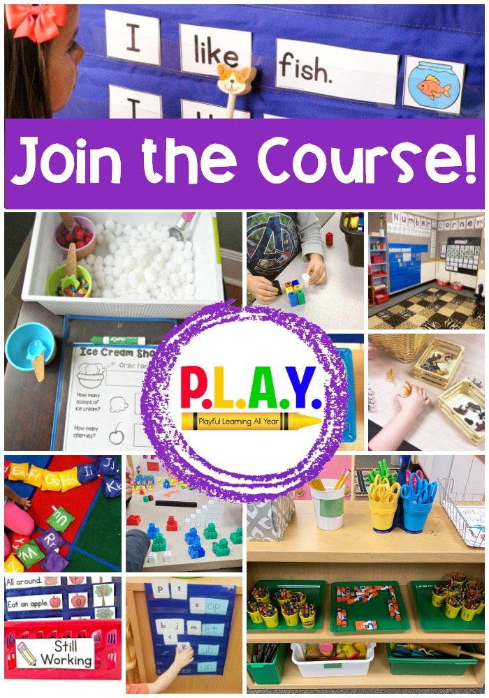 P.L.A.Y. is a course that takes a deep dive into practical ways that you can create a playful learning environment in your classroom!
