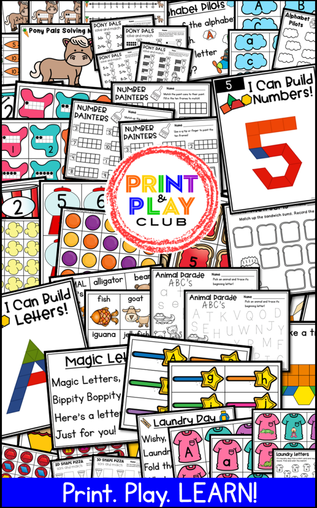 JOIN hundreds of teachers inside the Print & Play Club. A Club created by a teacher, for teachers! With BRAND NEW monthly centers planned and ready to print and play, with exclusive access to hundreds of themed and evergreen printables!