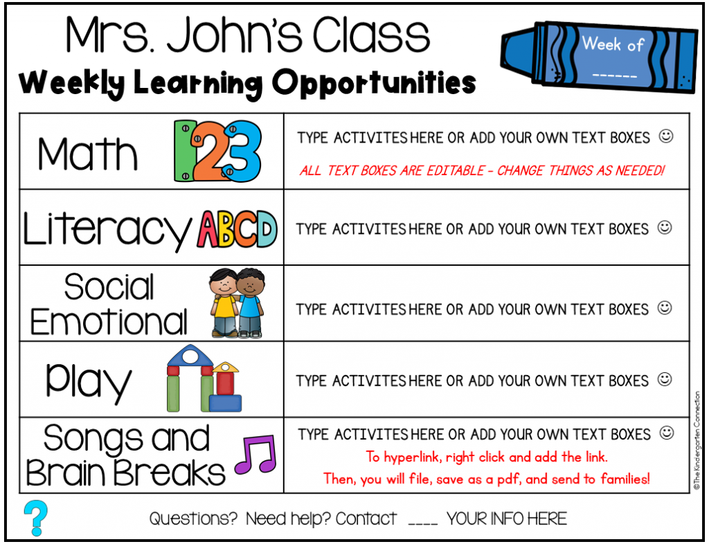 This free, editable send-home learning menu is great to use over school breaks, as optional homework, or for distance learning.