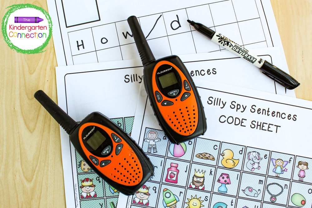 Laminating the Silly Spy grid pages to use with a dry erase marker allows for repeated use!
