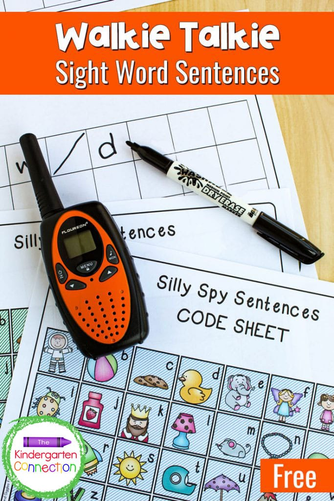 Swap out the flashcards for this free Walkie Talkie Sight Word Activity for Kindergarten! It's interactive and so fun!