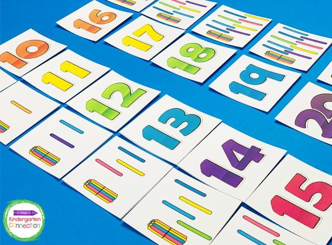 This game includes matching cards for numbers 1-20 and can be played many different ways!