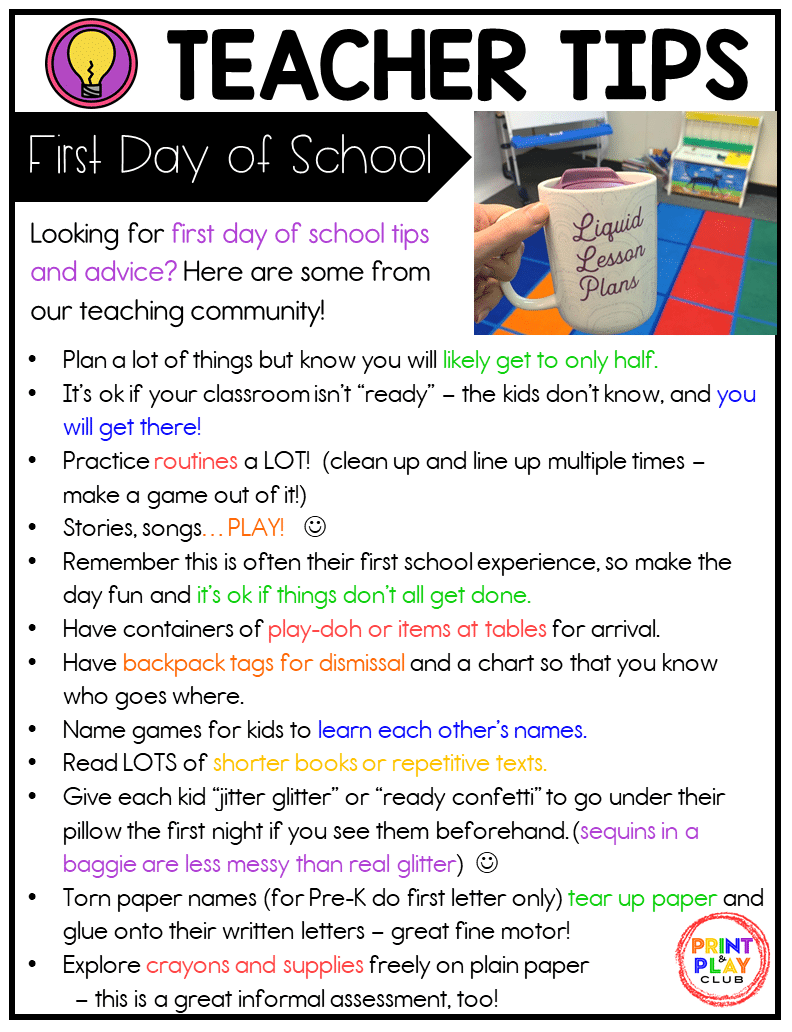Grab the downloadable copy of our Tested Teacher Tips for the First Day of School.