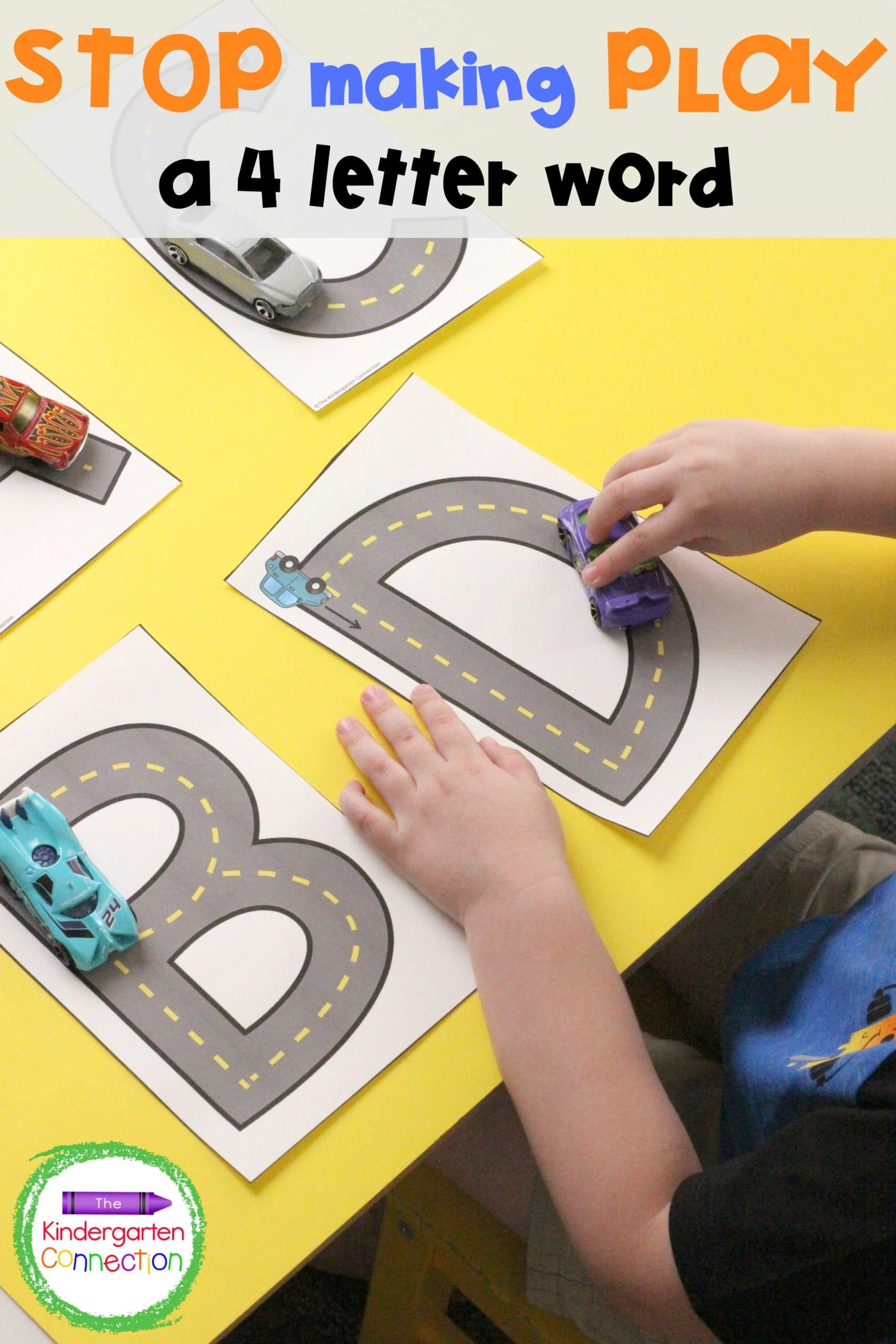Bring back authentic and intentional play in the classroom and stop making play a four letter word! Practical tips for kindergarten teachers to incorporate to make a playful, educational classroom!
