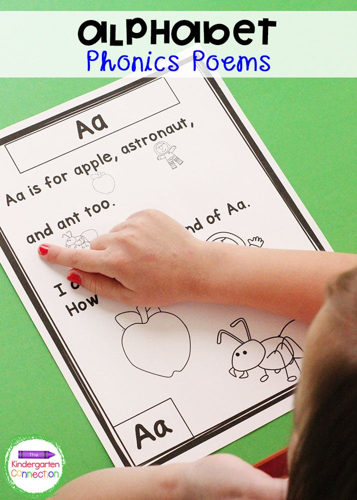 Practicing fluency is easy with these Alphabet Phonics Poems. Your Pre-K and Kindergarten students will love the predictable text and fun pictures!