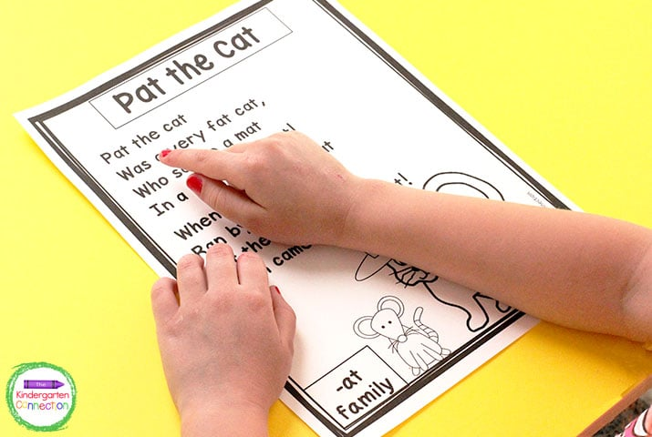 These phonics poems include sight word and CVC word family practice!