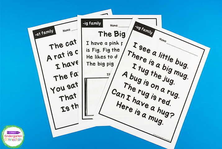 In total, this pack contains 46 pages of printable fluency resources!