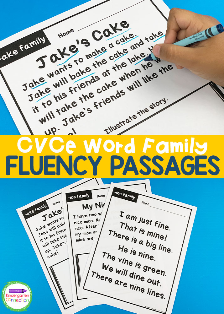 These CVCe Word Family Fluency Passages are a fun way to help your early readers become successful with word families!