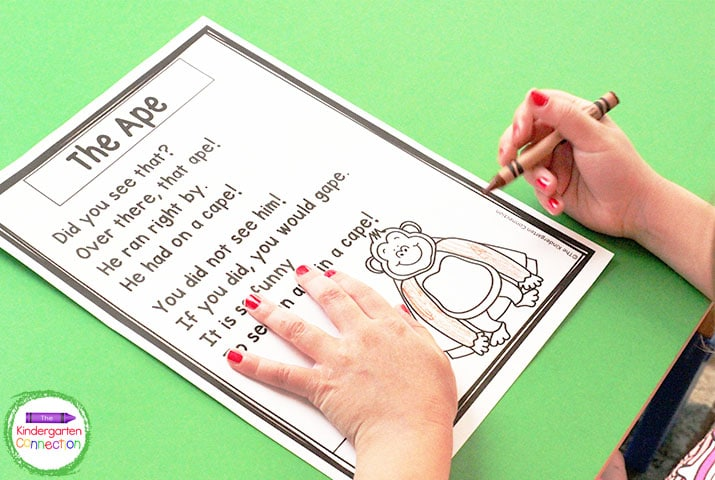 The short and simple rhymes tell a fun story, and there is even a fun matching picture to color!