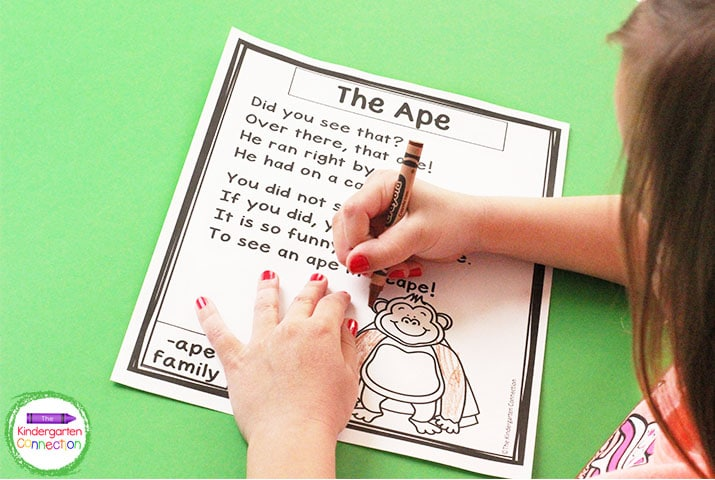 Reading CVCe word families is fun with these engaging rhymes in this phonics poem set!