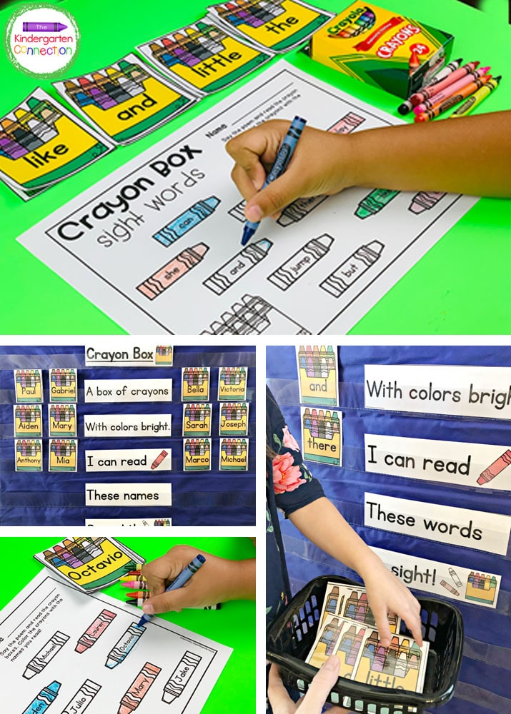 This set includes our Crayon Box Chant, editable crayon box cards, and recording pages.