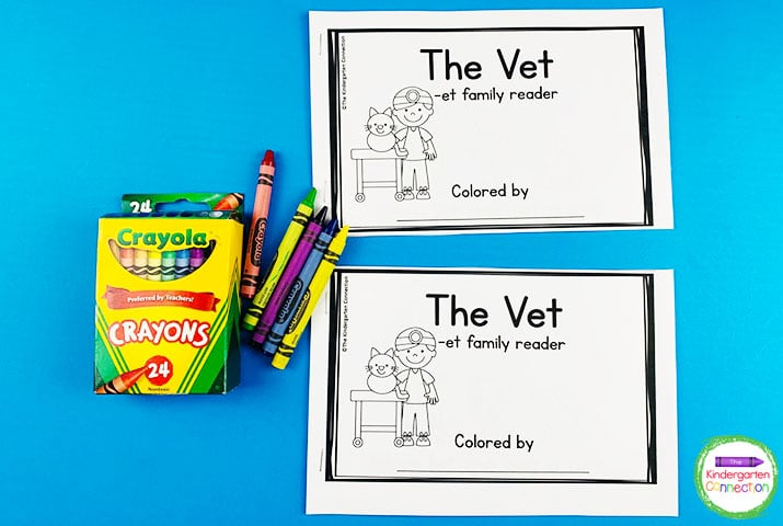 This sampler pack includes an emergent reader that focuses on the -et word family.