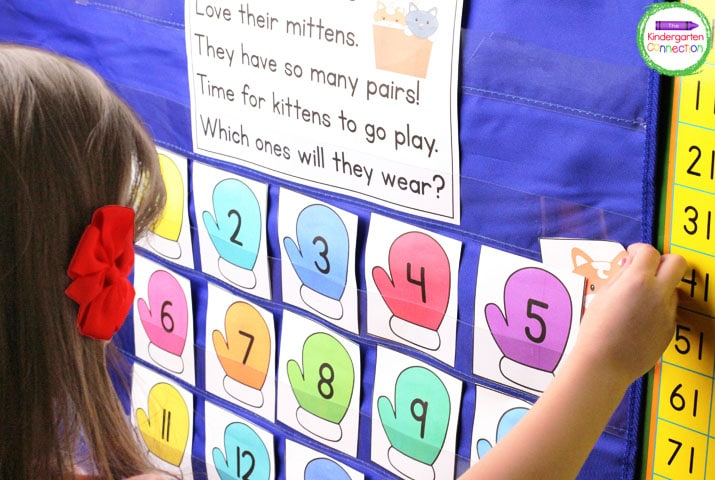 Kittens' Mittens is a super fun, low-prep pocket chart/hundreds chart activity.