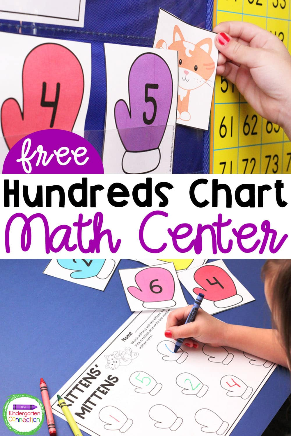 This FREE Hundreds Chart Activity is the perfect way to practice number recognition and skip counting in Pre-K and Kindergarten.