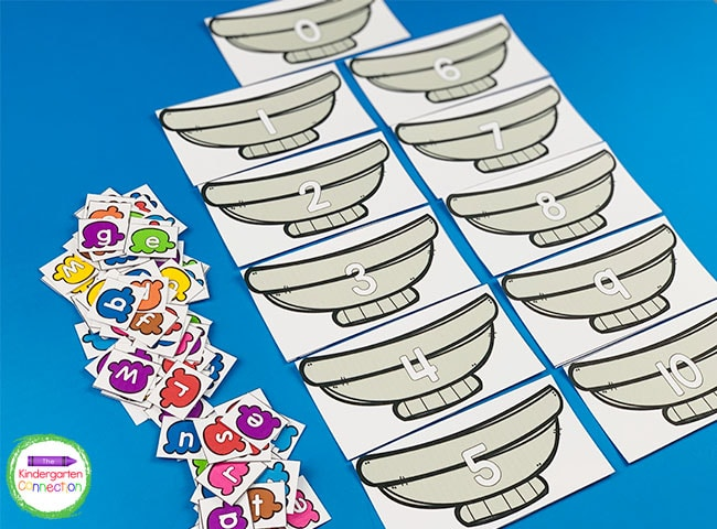 Laminate all of the ice cream bowls and letters to make this spelling activity durable and reusable.