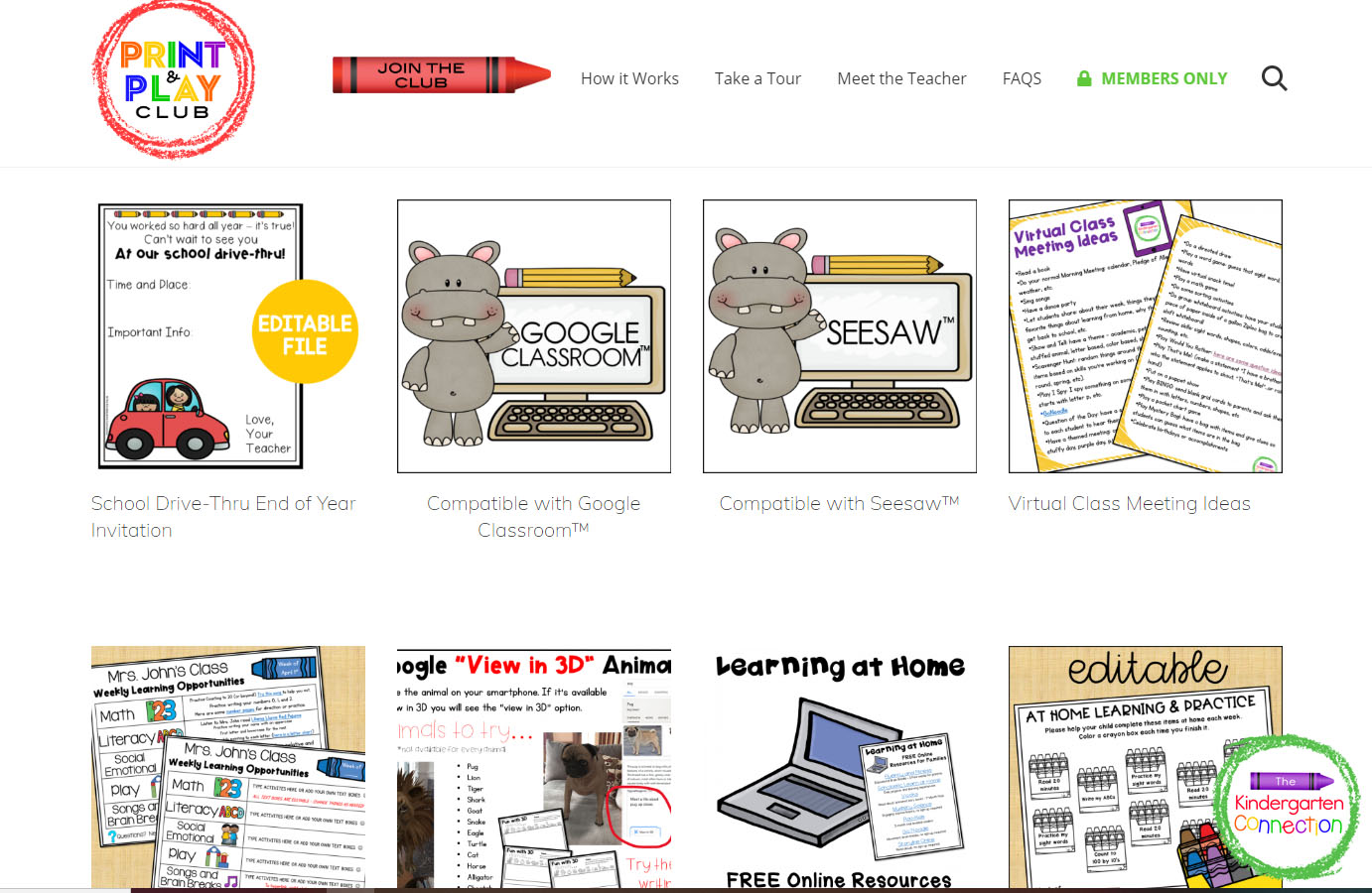 The Print and Play Club provides resources for digital learning that are compatible with Seesaw™ or Google Classroom™!