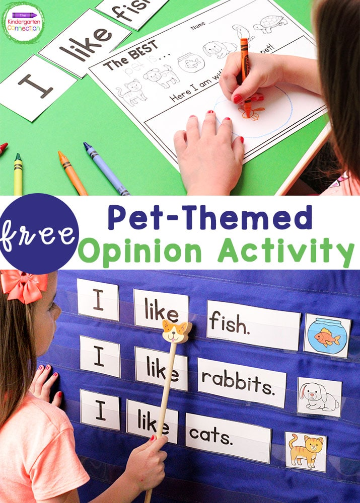 This free Pet-Themed sentence building activity is perfect for introducing predictive sentences in Pre-K and Kindergarten!