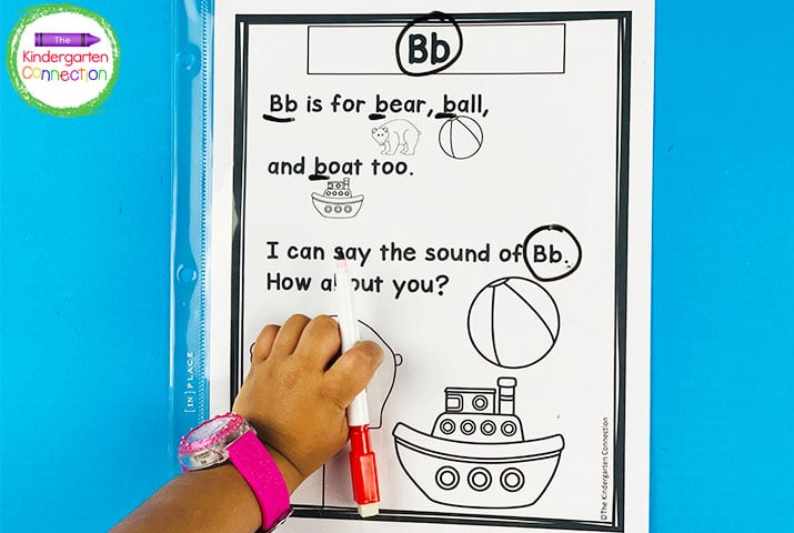 Phonics Poems placed in sheet protectors and in a binder make a fantastic poetry center!