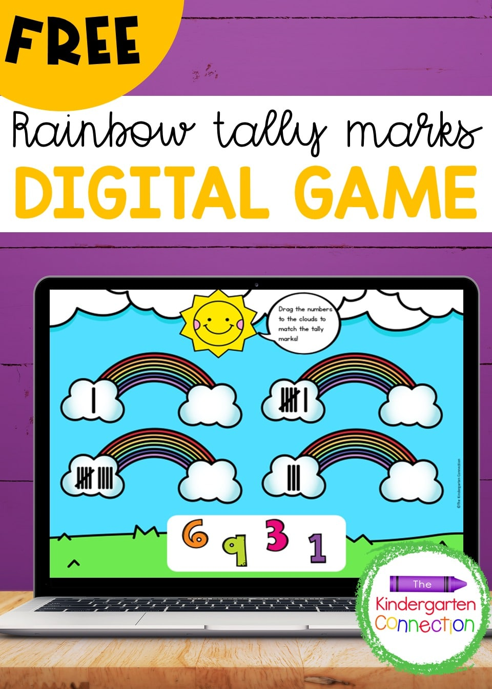 This Free Rainbow Tally Marks Digital Learning Game for Pre-K and Kindergarten provides tons of fun while your students practice an important math skill!