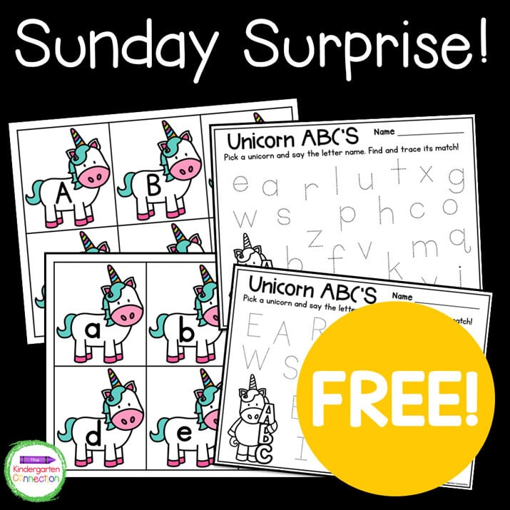 Get your free copy of our Unicorn ABC's when you sign up for our weekly Sunday Surprise!