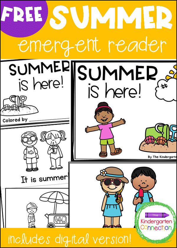 Your students will be excited to read with this FREE Summer Emergent Reader that is perfect for your Pre-K or Kindergarten classroom!