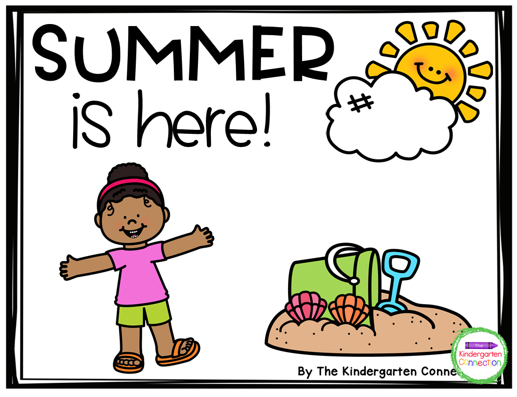 This freebie also includes a digital color version of the Summer Emergent Reader!