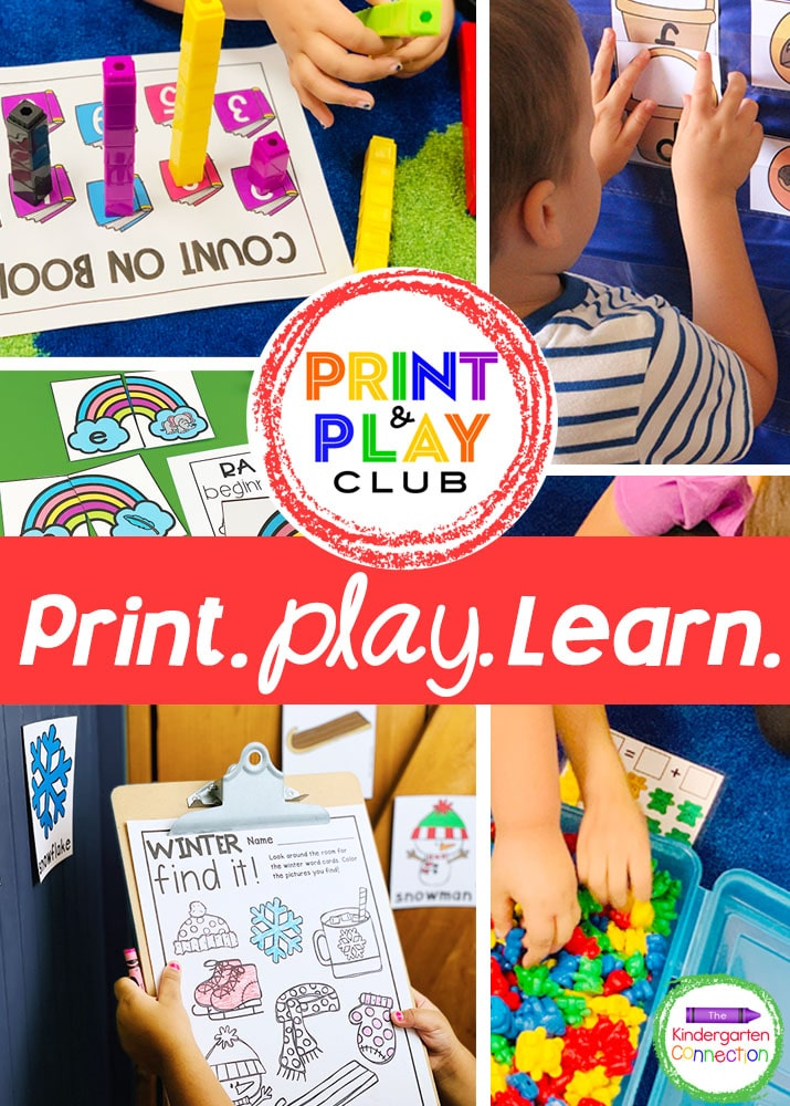 JOIN hundreds of teachers inside the Print & Play Club. A Club created by a teacher, for teachers! With BRAND NEW monthly centers planned and ready to print and play, in addition to exclusive access to hundreds of seasonal, themed and anytime of the year printables!