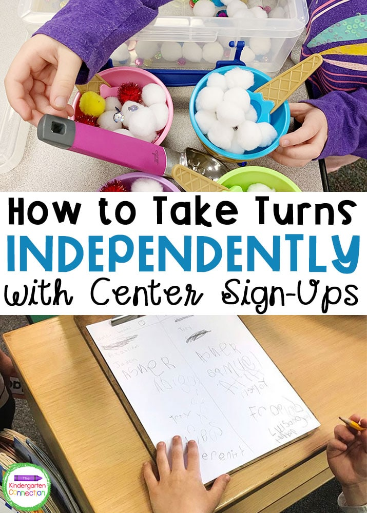 Build independence and social skills while also learning how to take turns with this FREE Taking Turns Activity Sign-Up guide and printable sign-up sheet!