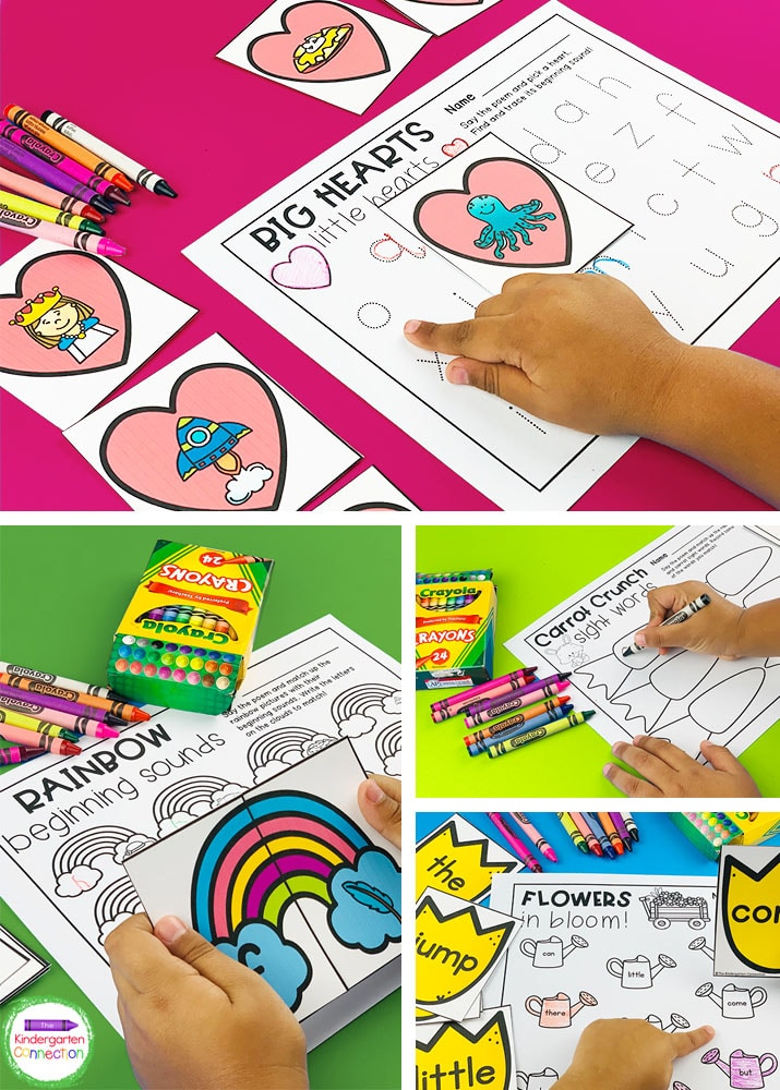 Each activity includes recording sheets that are perfect for circle time or centers!