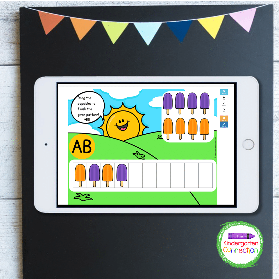 This bundle also has games that practice important math skills including pattern skills.
