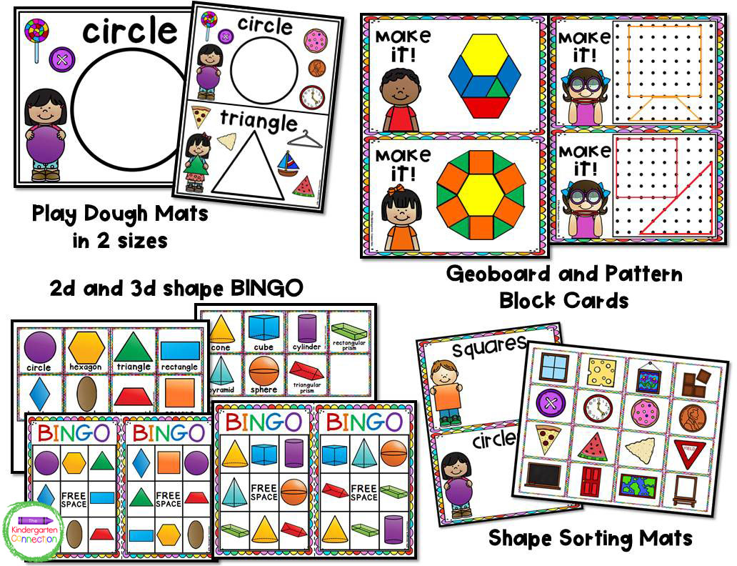 This pack includes 13 different activities for teaching 2d and introducing 3d shapes to your students.