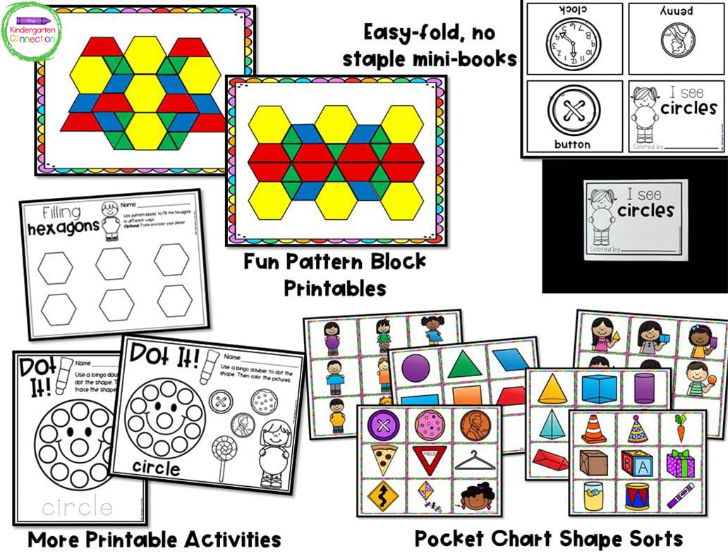 This pack is filled with engaging shape centers that are NOT themed and can be used ANY TIME of year.
