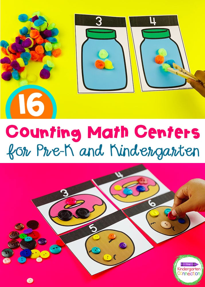 Practice counting from 0-20 with these hands-on Counting Activities and Centers created specifically for Pre-K and Kindergarten students!