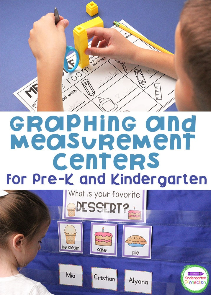 These Graphing and Measurement Activities for Pre-K & Kindergarten will help your students develop important skills to analyze the world around them!