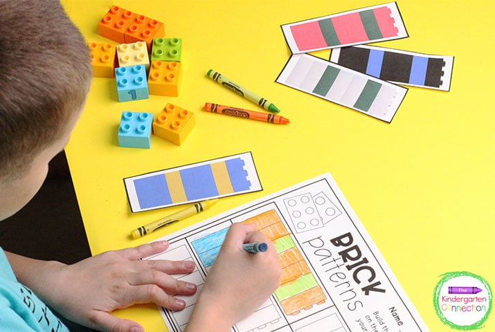 """There are over 365 pattern cards for your kiddos to explore in this set like """"Brick Patterns!"""""""