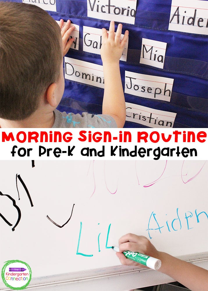 Grab this FREE guide for a Morning Sign-In Kindergarten Routine to help keep your morning routine simple but structured so you can start the day right!