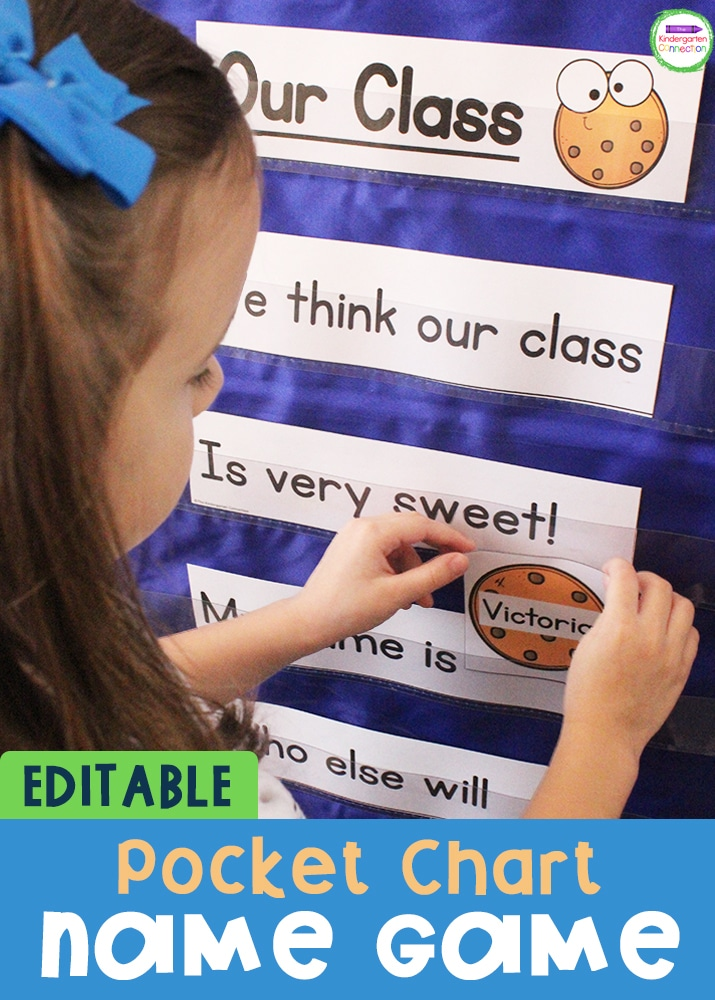 This FREE Editable Pocket Chart Back to School Name Game is the perfect addition to your Pre-K or Kindergarten back to school plans!