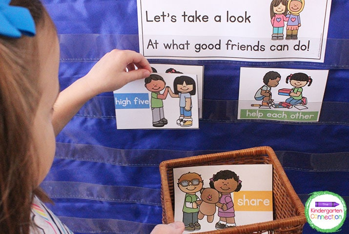 This social-emotional activity for pocket charts shows students what being a good friend looks like at school.