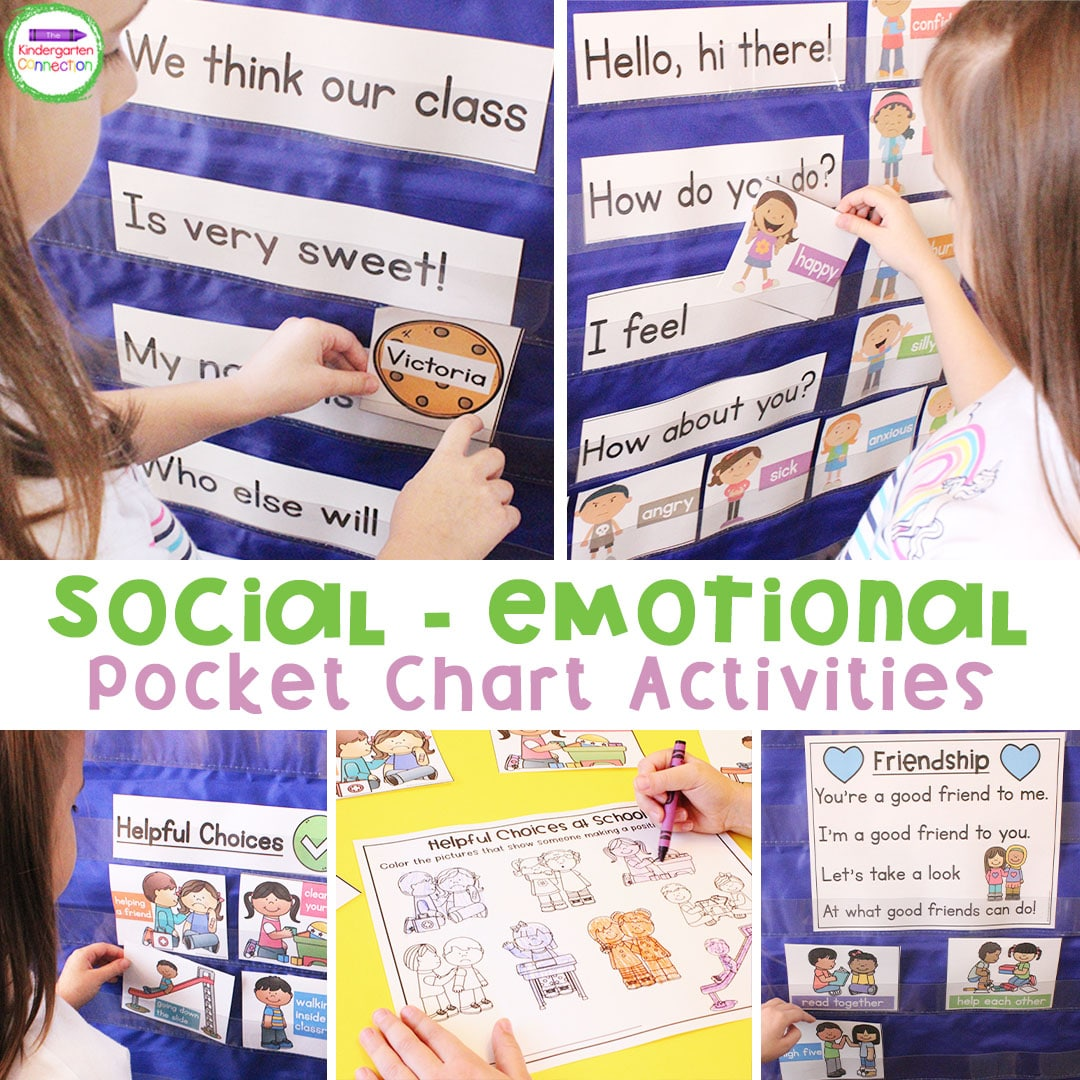 This pack of Social-Emotional Activities is perfect for your Pre-K and Kindergarten classroom