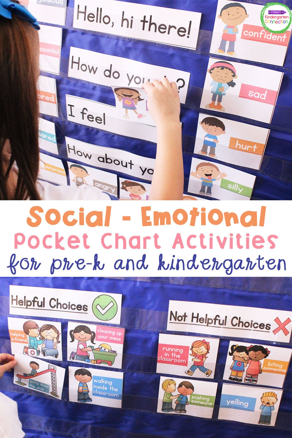 These super fun social-emotional activities for pocket charts are a great way to explore and support the social-emotional needs of your students!