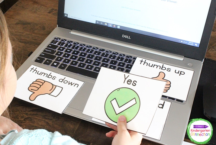 The Yes and No student response cards give another option for polling your students.