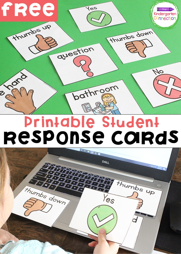 These FREE Student Response Cards are a great way to engage with your students while teaching virtually or in the physical classroom!