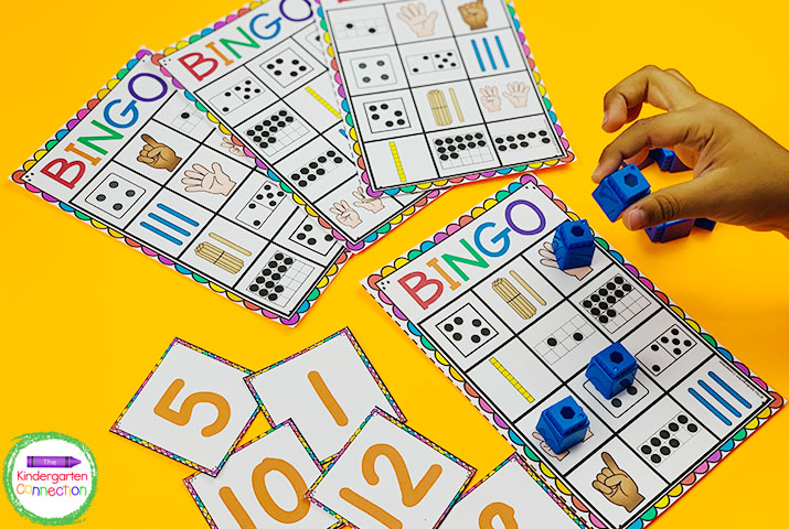 These Subitizing Bingo cards are perfect for a whole class activity, small groups, or even centers.